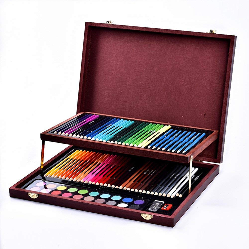 91 Pcs Deluxe Art Set Color Children Painting Stationery Set Art Supplies Tool