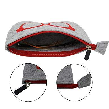 4 Pack Unisex Glasses Case Protector Pouch - shopmeko