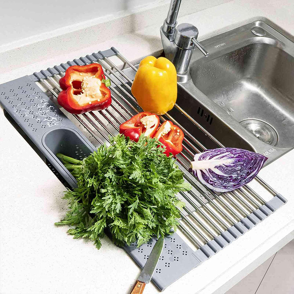 Foldable Roll Up Sink Dish Drying Rack
