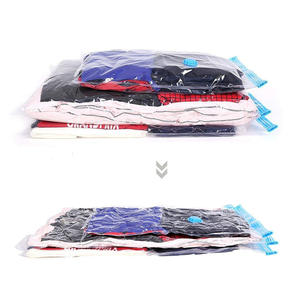 4 Pack Space Saving Storage Bags Vacuum Seal Compressed Organizer Bag