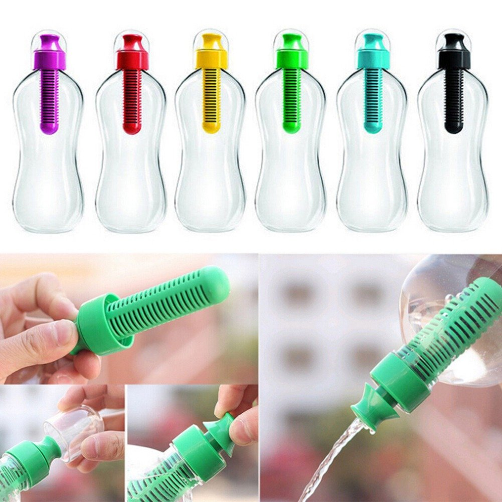 550ML Outdoor Water Hydration Filter Bottle BPA-Free