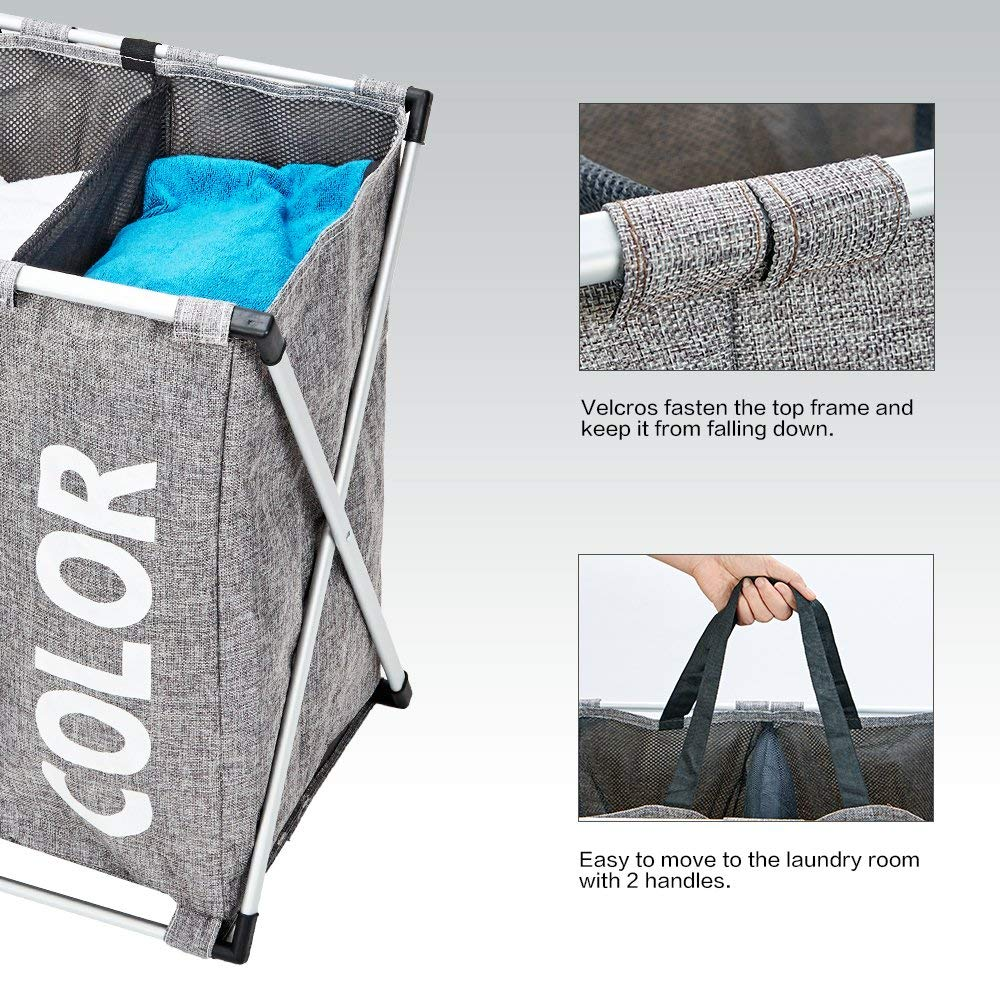 Foldable Laundry Clothes Storage Basket Washing Bag
