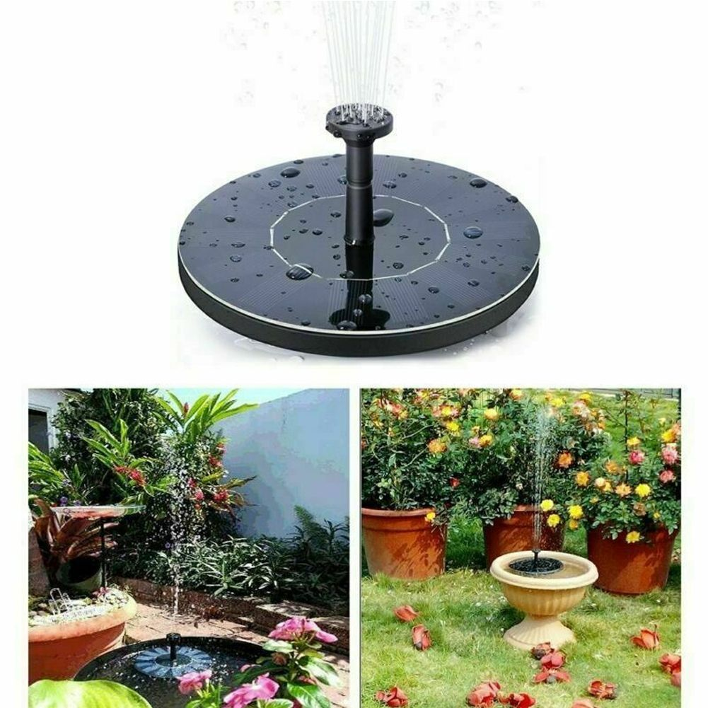 Solar Panel Powered Water Pump Floating Pond Fountain