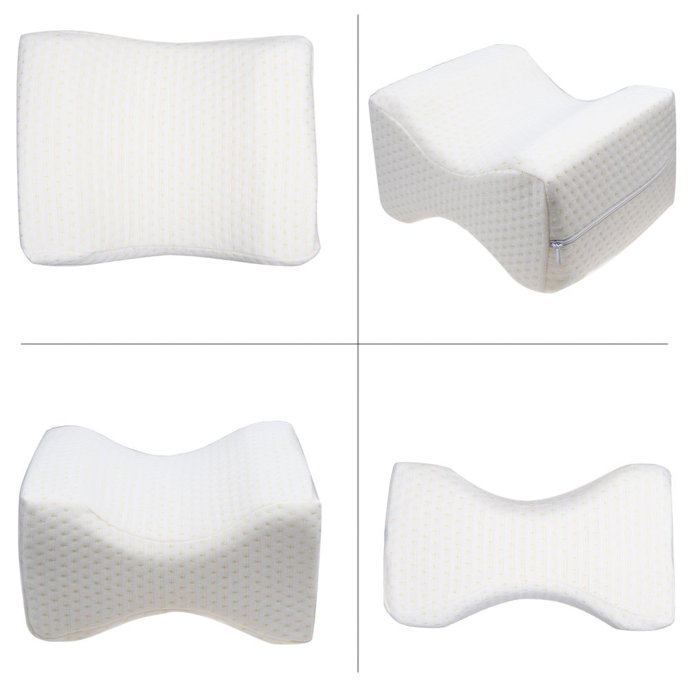 Orthopedic Knee Pillow, Memory Foam Leg-Cushion for Sciatica Relief, Ideal Choice for Hip, Back, Leg, Knee Pain, Side Sleeper
