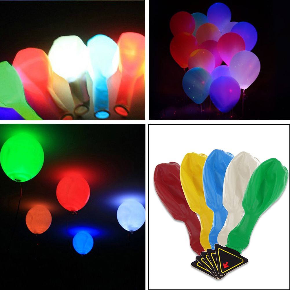 20 Shining LED Balloons Birthday Wedding Balloons for Party Decor Club