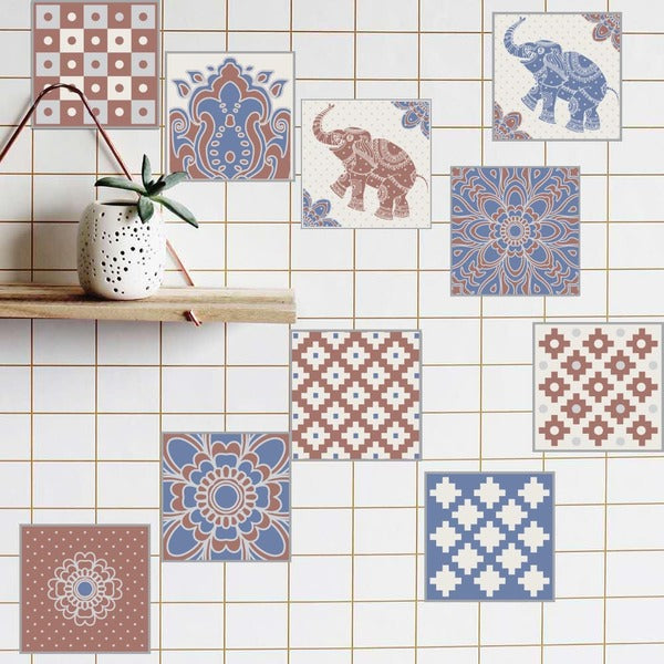 20 Pcs Waterproof European Style Wall Tiles Stickers