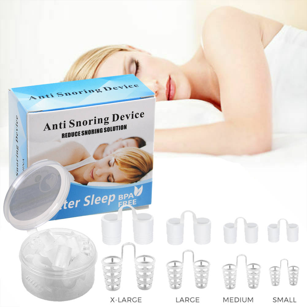 8 Pcs Stop Snoring Nose Vents Clip Anti Snore Sleep Nasal Dilators Device