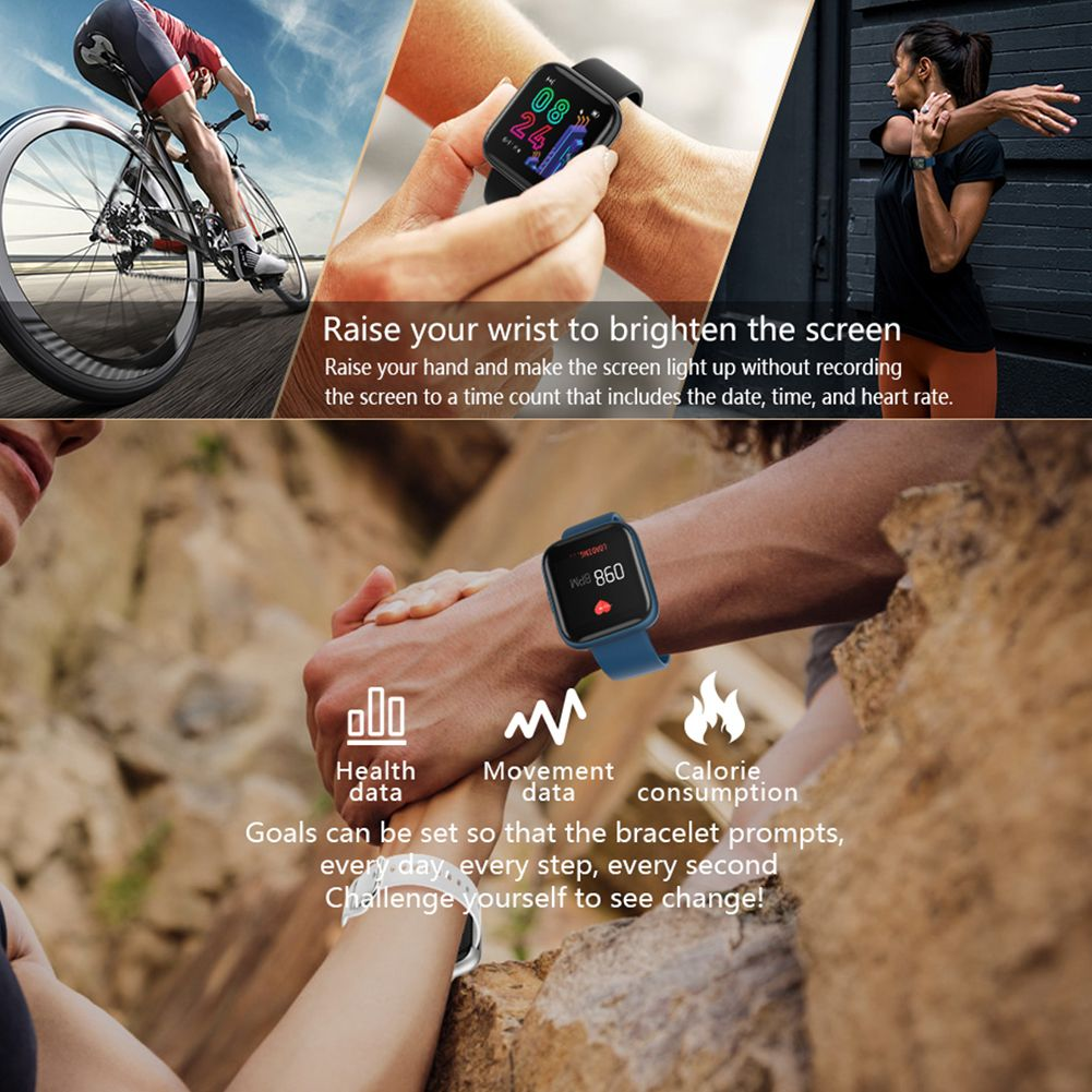 Full Touch P6 Smart Watch Wristband Men Women Sport Clock Heart Rate