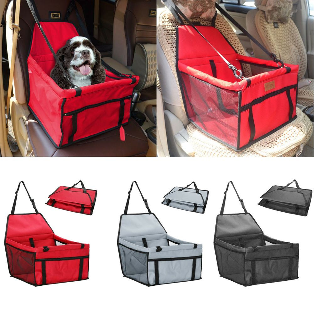 Car Pet Carrier Bag Mesh Waterproof Travel Mat Seat