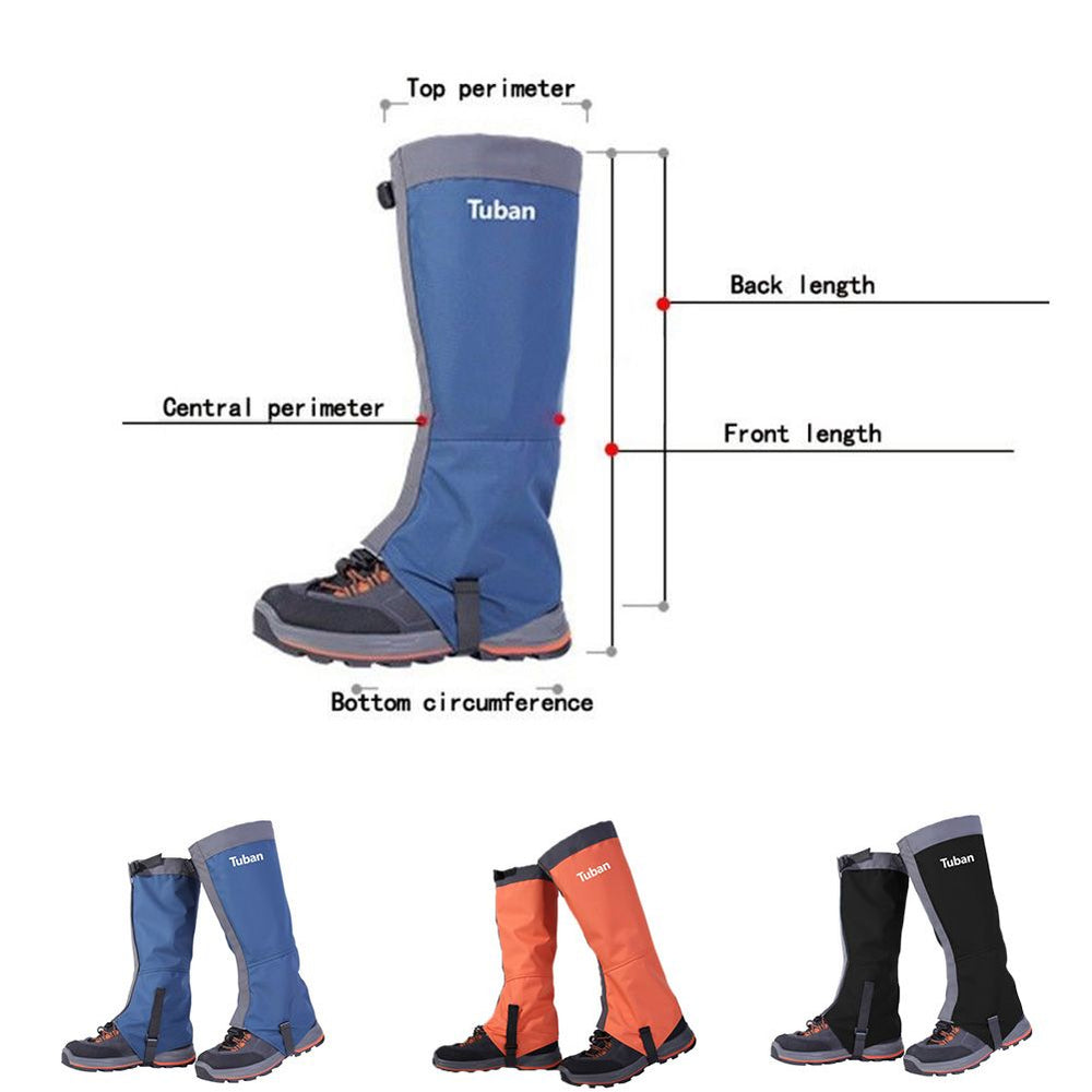 Mountain Hiking Hunting Boot Gaiters Waterproof Snow Snake High Leg Shoes
