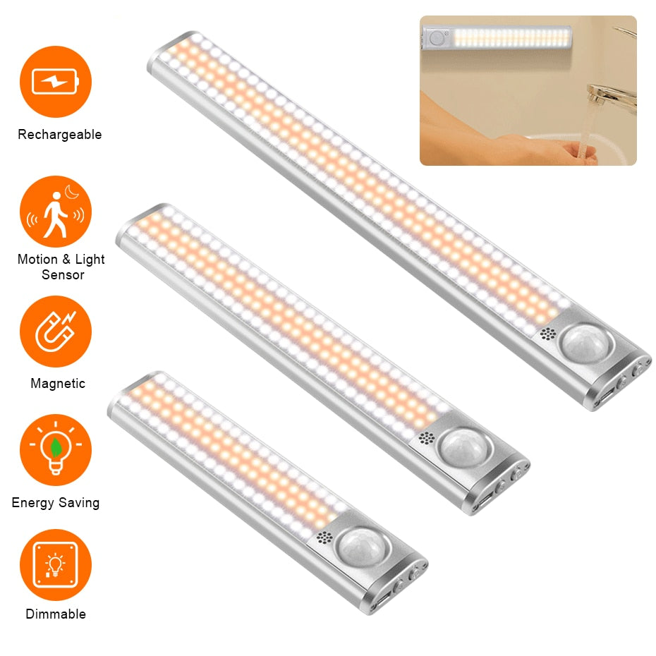 80/120 Wireless LED Closet Light Under Cabinet Sensor Light