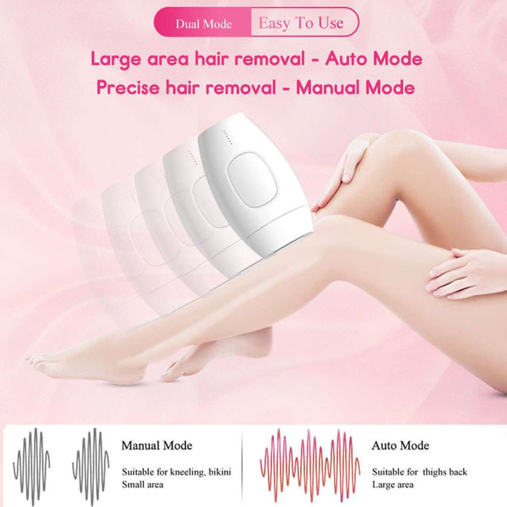 Painless Laser Epilator, 600,000 Flash Permanent Hair Removal Device For Body, Face, Bikini, Armpit, Men And Women