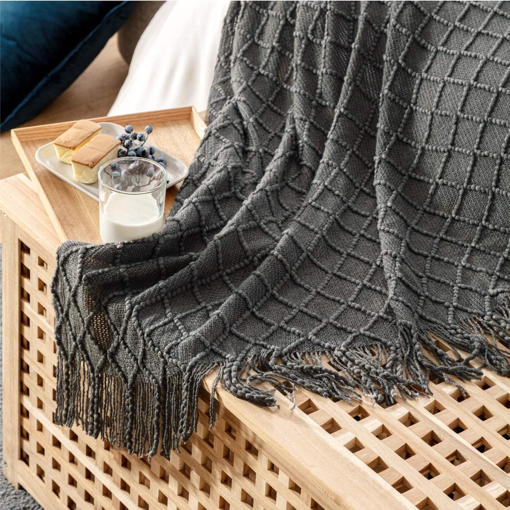 Multifunction Throw Blanket Knit Woven Bed Sofa Blanket for Couch, Bed, Sofa, Travel