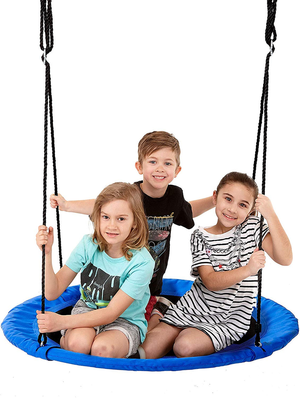 Children Outdoor Round Hanging Rope Nest Tree Garden Yard Swing