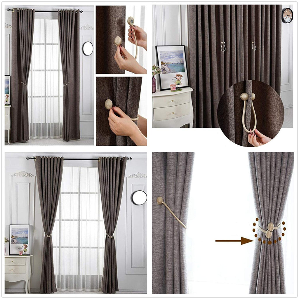 2 Pair of Magnetic Ball Curtain Tiebacks Holdbacks Curtains & Voiles