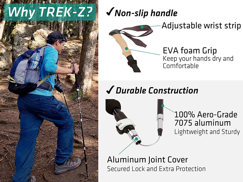 Collapsible Tri-fold Trekking Hiking Pole