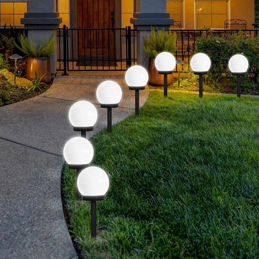 4 Pack Waterproof Solar Globe Lights Garden Walkway Landscape Lights