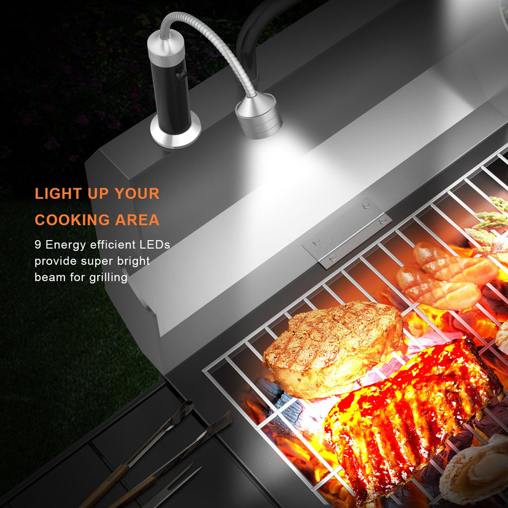 360 Degree Flexible Barbecue Grill Light Magnetic Base Super-Bright LED Lights