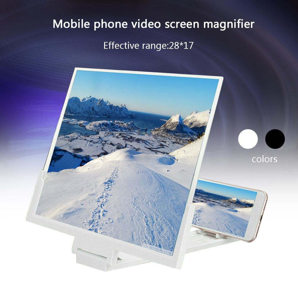 Folding Mobile Phone Video Screen Amplifier 14''''  Magnifier Stand Bracket