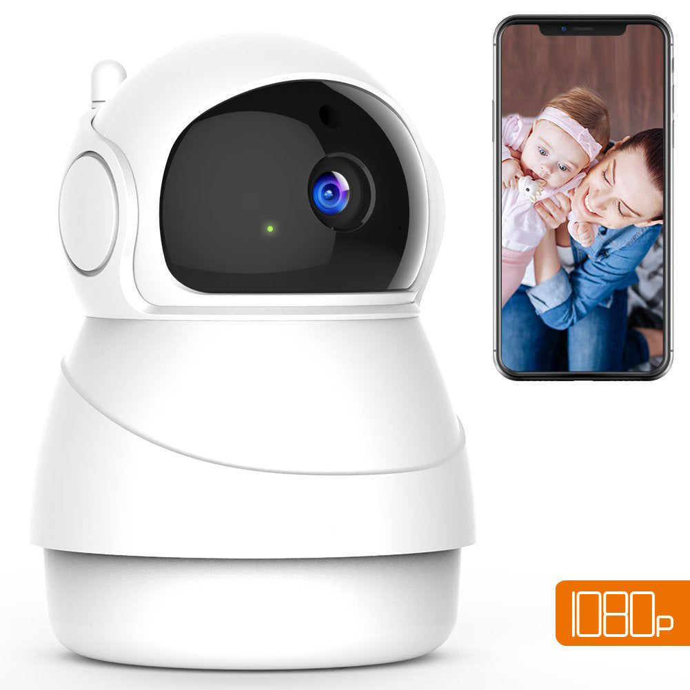 1080P FHD WiFi IP Camera Wireless Indoor Camera with Night Vision Motion for Baby/Elder/Pet