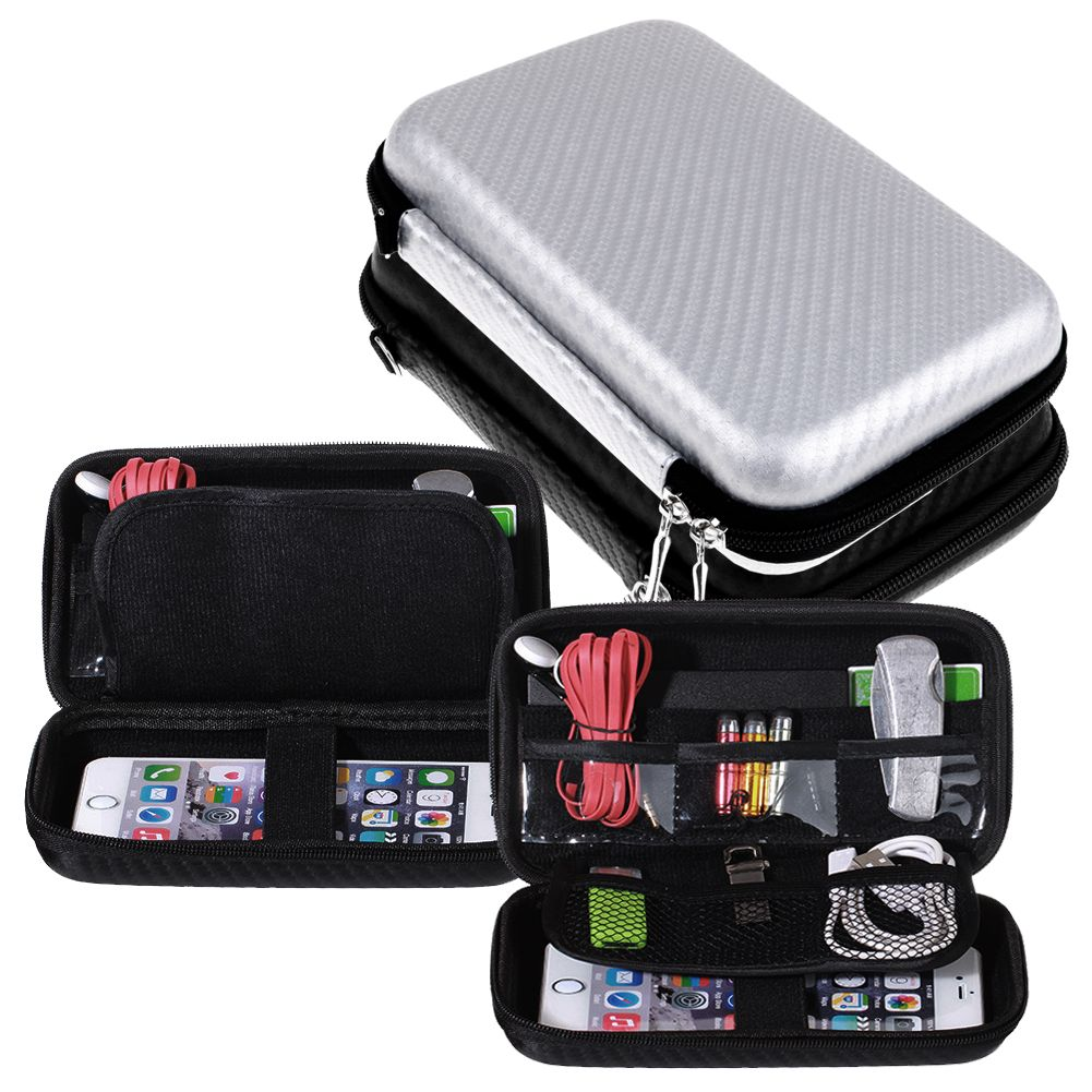 Carrying Gadget Storage Bag Pouch Hard Case Organizer for Earphone SD TF Card