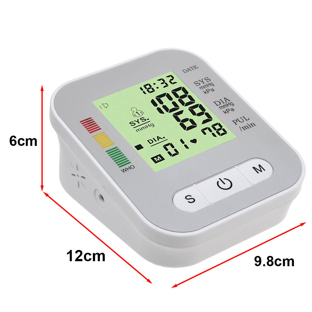 Portable Digital Upper Arm Blood Pressure Monitor Meter Intellisense