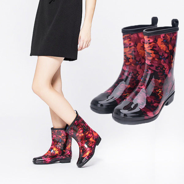 Waterproof Shoes Mid Boots Non-Slip Rain Boots
