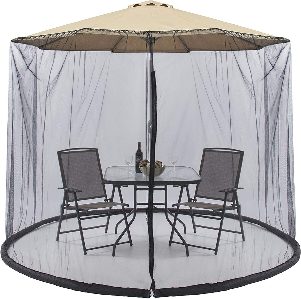 Patio Umbrella Outdoor Table Bug Mosquito Netting Canopy