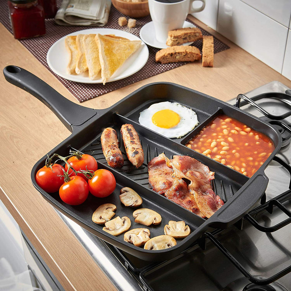 5 in 1 Multi Section Grill/Breakfast Skillet Non-Stick Frying Pan