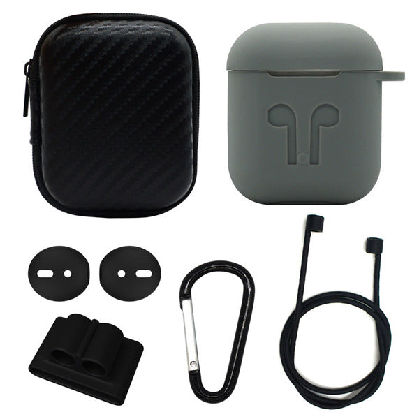 6 in 1 Silicone Airpods 1 Case Protector Accessory Kit