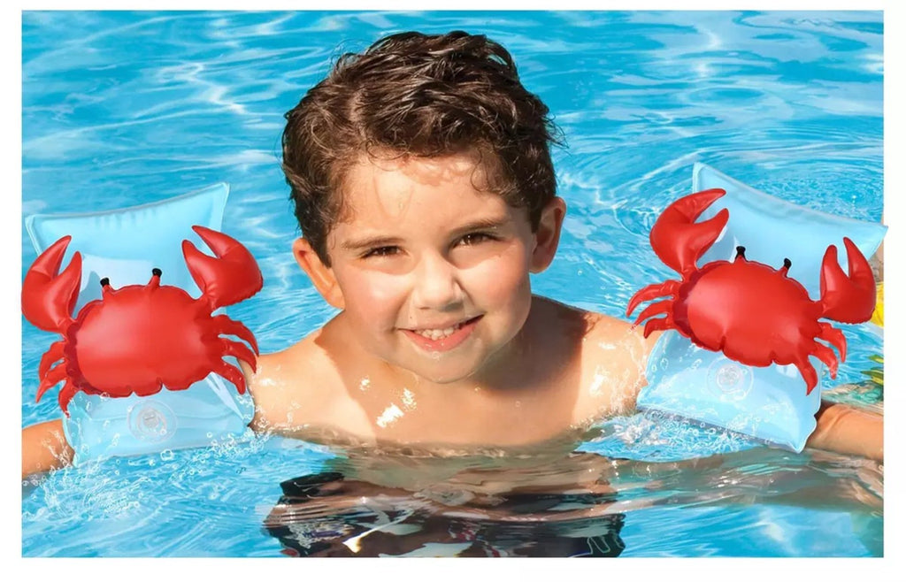 Children Cartoon Swim Arm Ring Circle Floating Kids Inflatable Air Sleeves PVC
