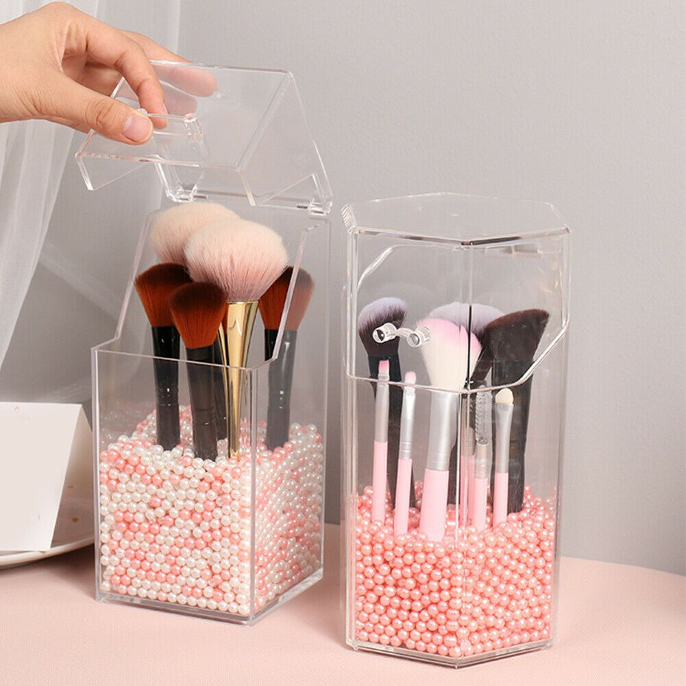Clear Cosmetic Makeup Brush Holder Storage Box
