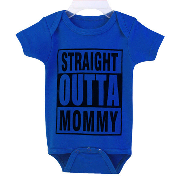 Straight Outta Mommy - Baby Cotton Romper Jumpsuit