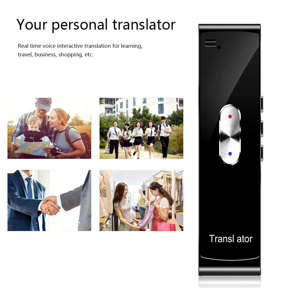 Smart Portable Real-Time Voice Translator Two-way Translator 40 Languages