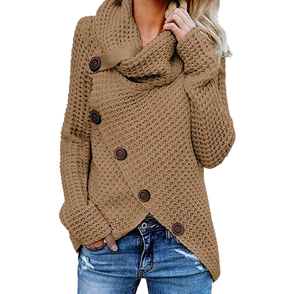 Women Button Down Blouse Long Sleeve Pullover Sweater