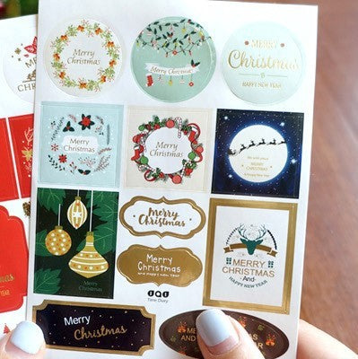 DIY Lovely Christmas Paper Sticker Decoration Scrapbooking Album
