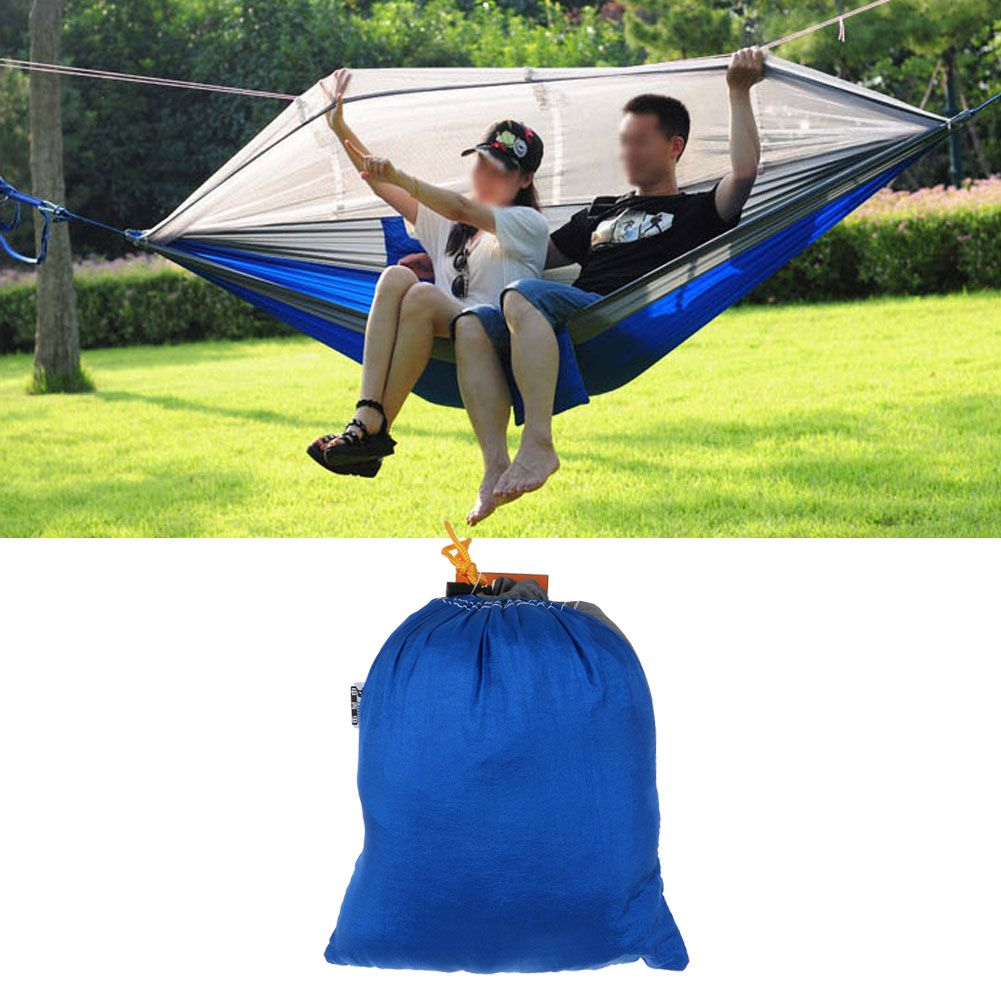 Double Person Camping Travel Outdoor Tent Hanging Hammock Bed With Mosquito Net