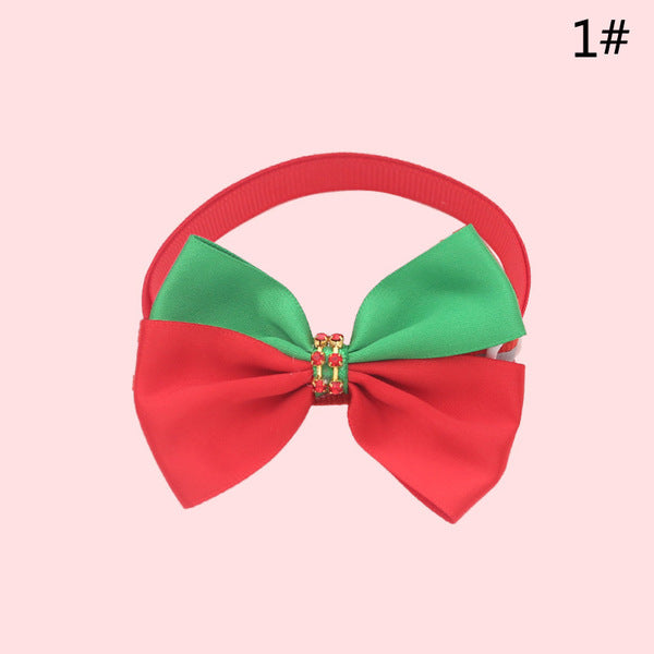 10 Pack Adjustable Christmas Pet Cat Dog Collar Bow Tie