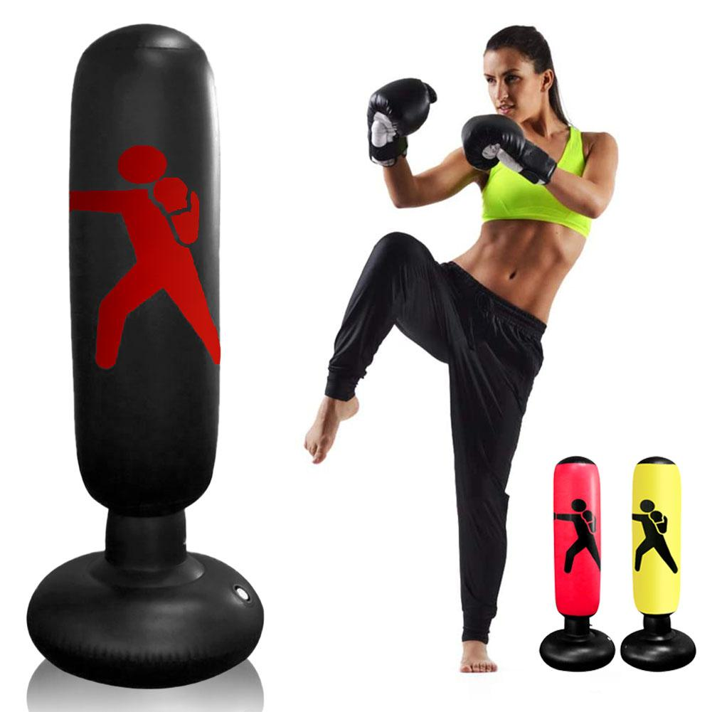 160cm Free Standing Inflatable Boxing Punch Bag Kick MMA Training Kid Adult