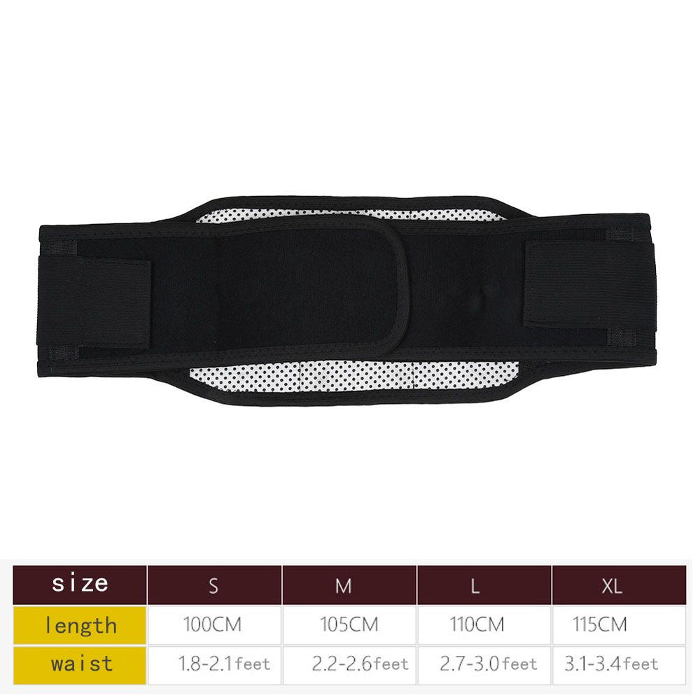Double Pull Magnetic Adjustable Lumbar Brace Back Support Belt