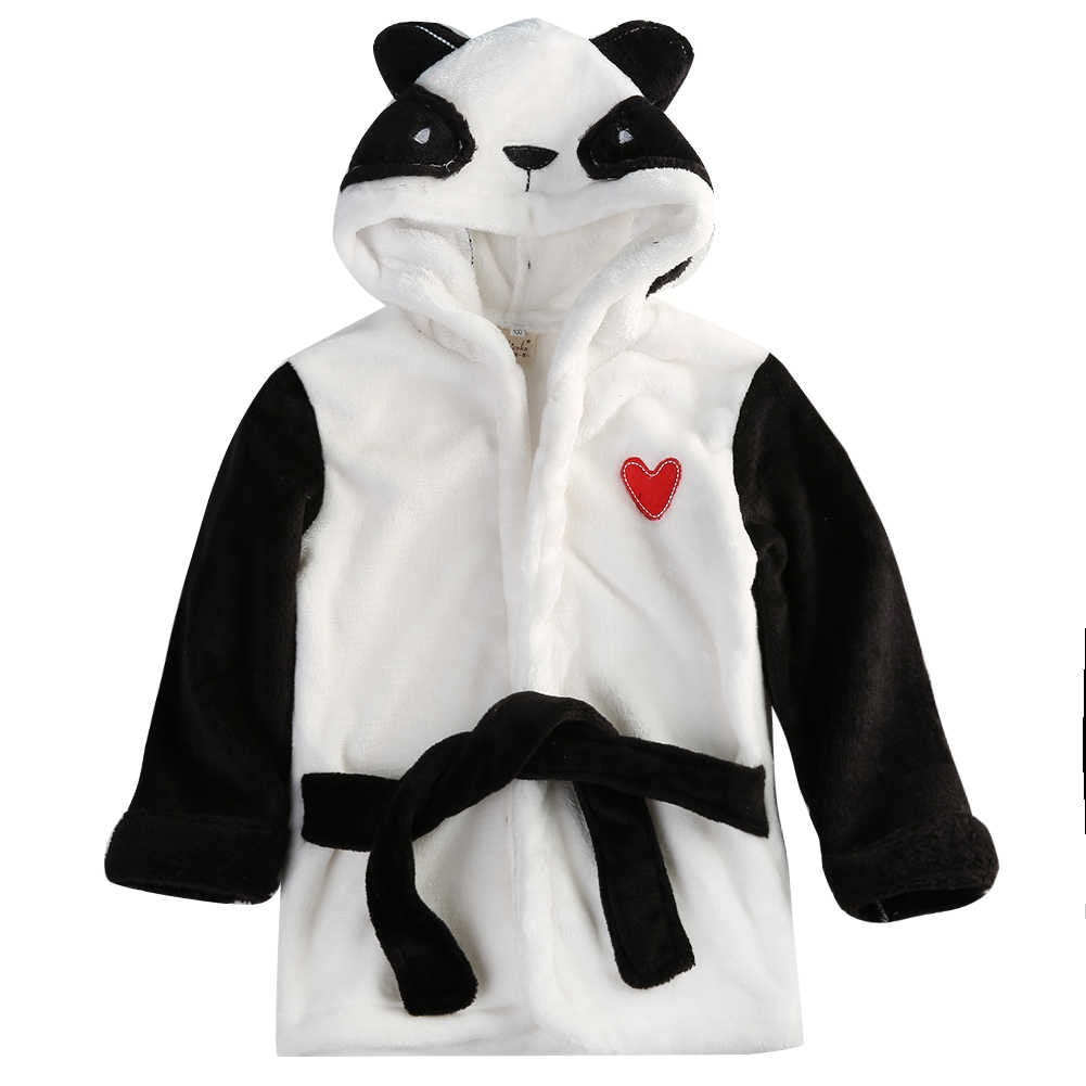 Toddler Kids Cartoon Hooded Animal Bathrobe