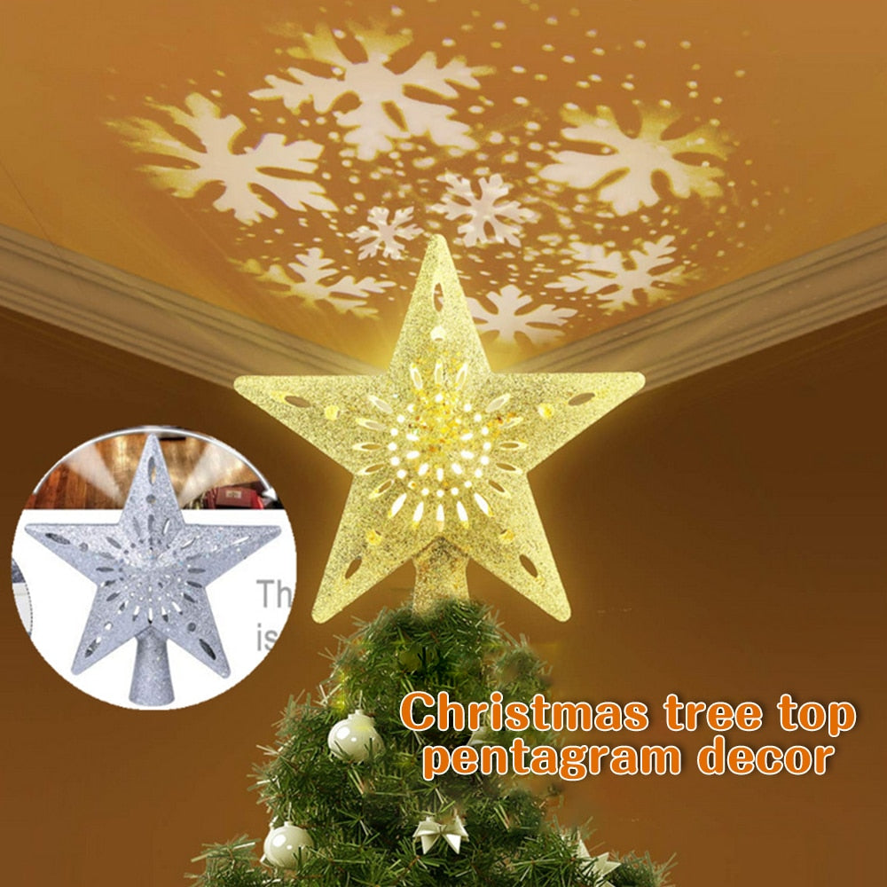 Christmas Top Snowflake Projector Light Decoration
