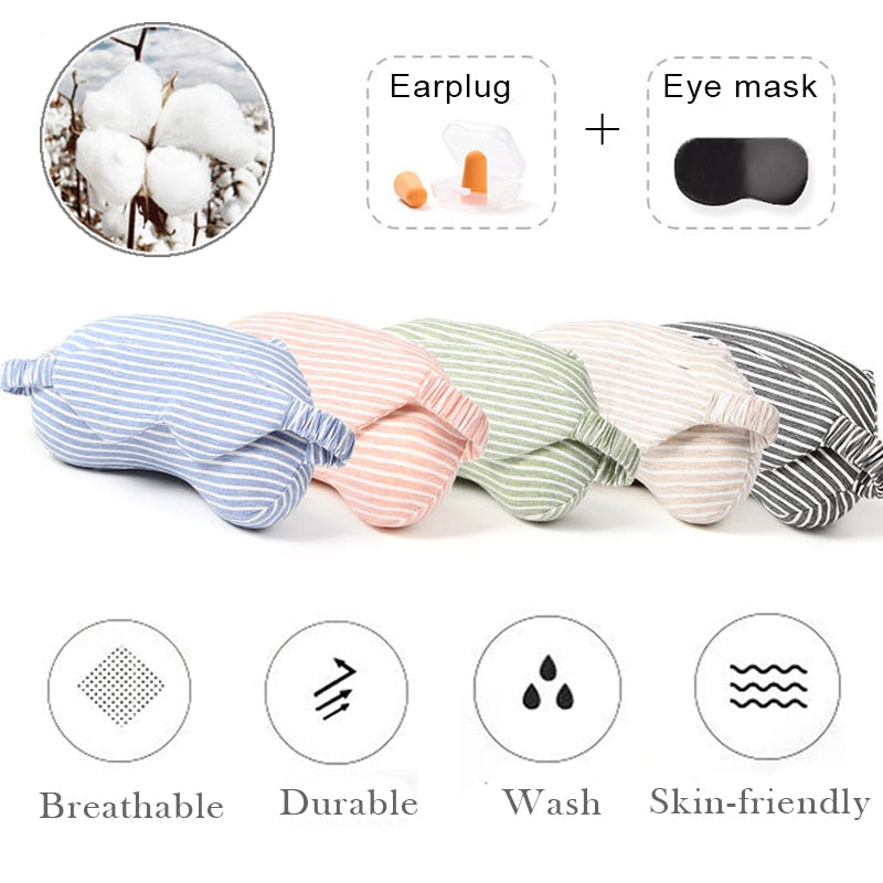 Portable Travel Neck Memory Foam Pillow With Eye Mask