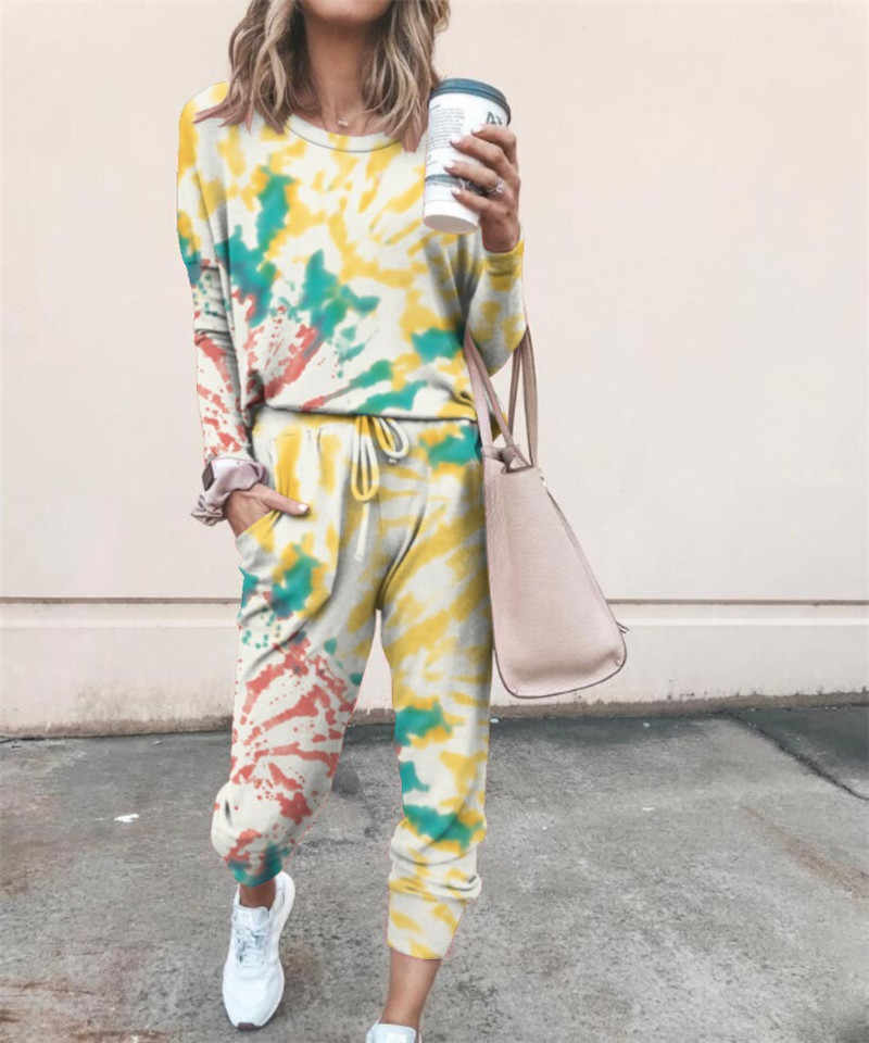 Women Tie-Dye Loungewear Set Tracksuit