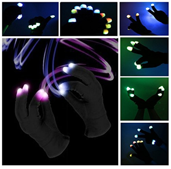 Winter Flashing Glove 7 Modes Light Up Finger Lighting