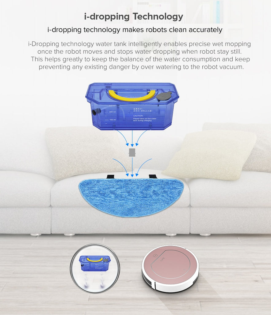 ILIFE V7s Plus Smart Robotic Vacuum Cleaner Sweeper Wet Mop Simultaneously