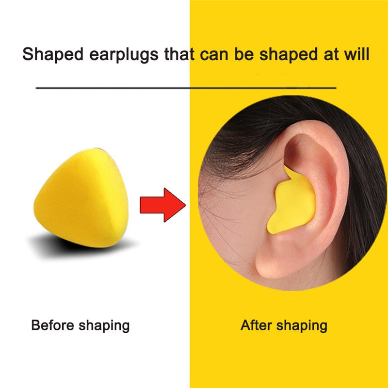Moldable Shaped PU Anti-noise Ear Plugs Noise Reduction