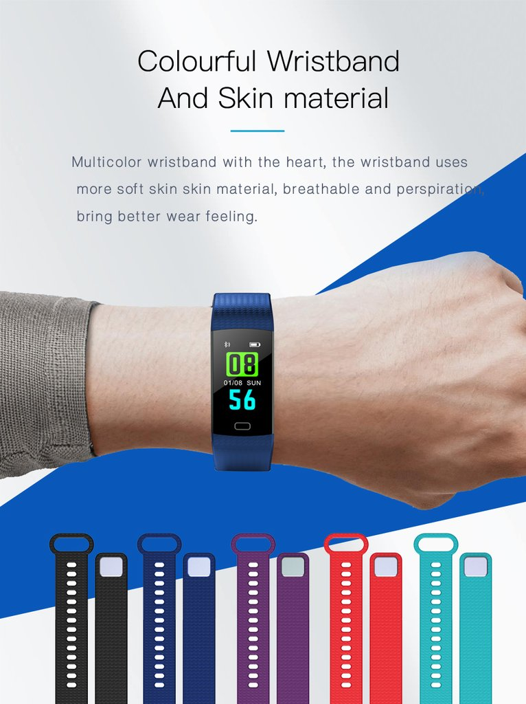 Y5 Smart Watch Band Color Screen Wristband smart fitness Bracelet