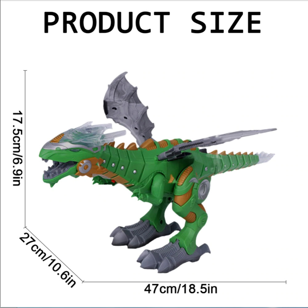Mist Spray Electronic Dinosaur Mechanical Walking Dinosaur Toy with Light