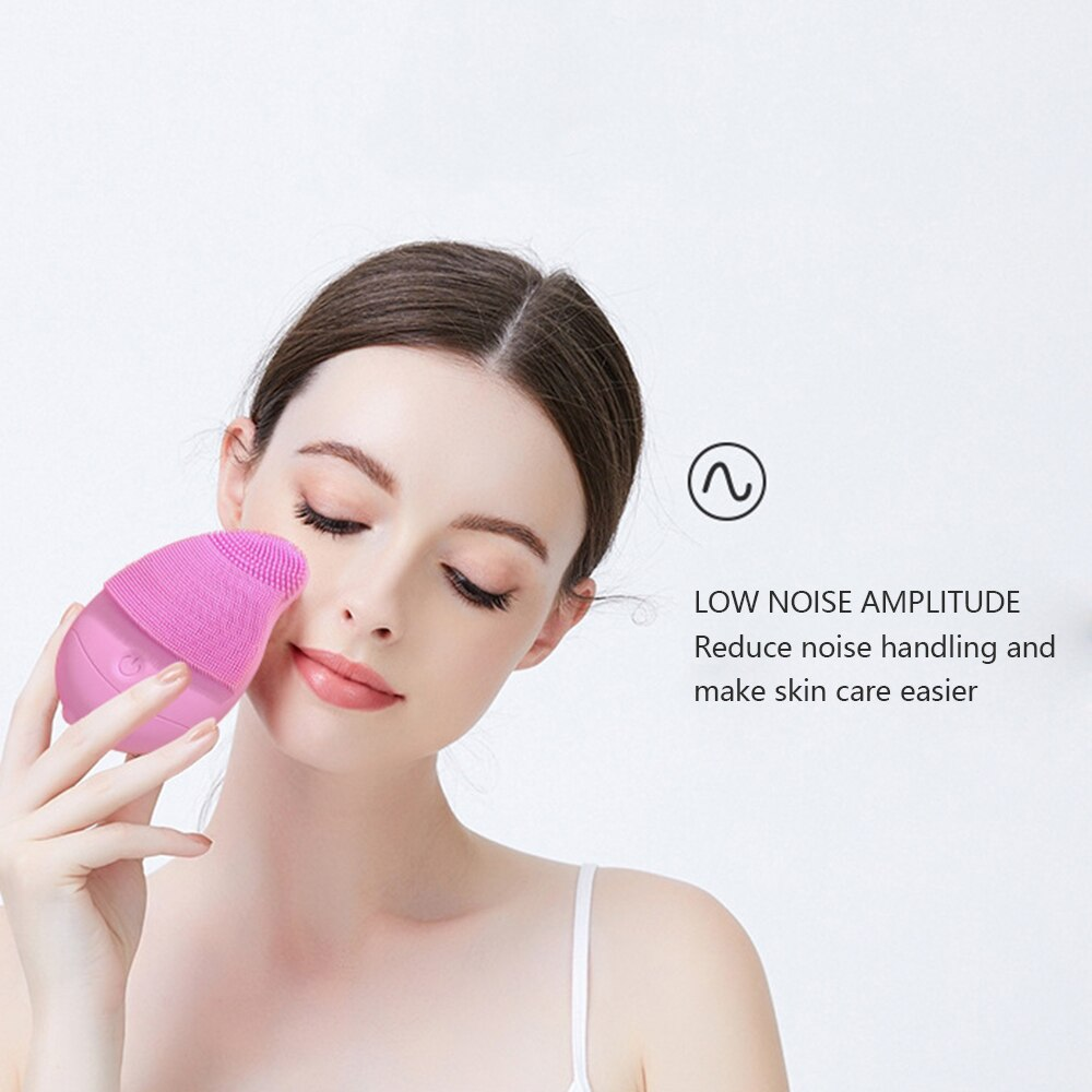 Waterproof Disposable Non-Rechargeable Silicone Electric Face Cleansing Facial Cleanser Brush